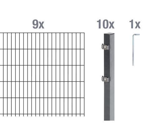 Doppelstabmatten-Set 6/5/6 1800x120 cm antrazit