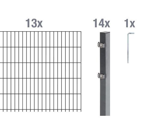 Doppelstabmatten-Set 6/5/6 2600x120 cm antrazit