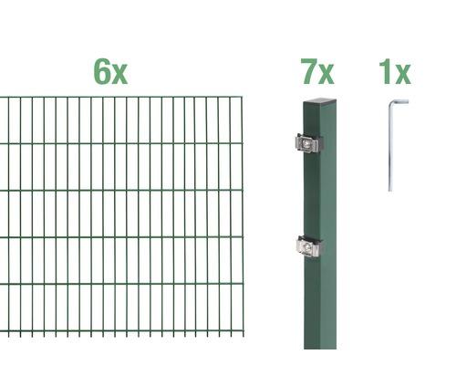 Doppelstabmatten-Set 6/5/6 1200x120 cm grün