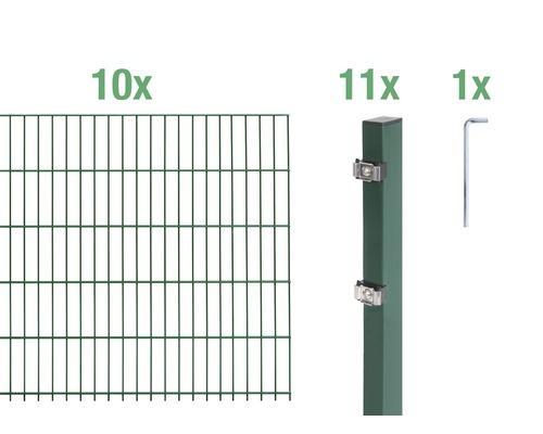 Doppelstabmatten-Set 6/5/6 2000x80 cm grün