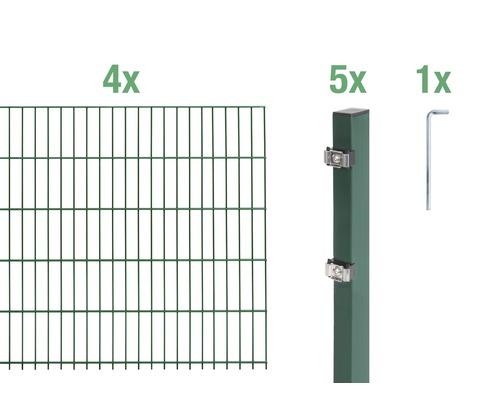 Doppelstabmatten-Set 6/5/6 800x80 cm grün
