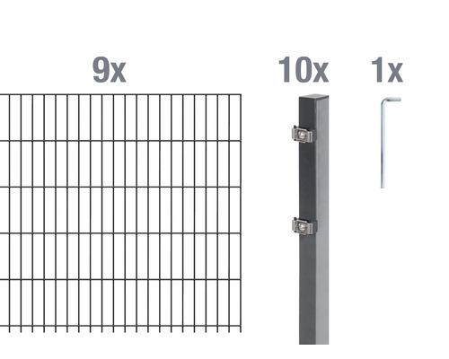 Doppelstabmatten-Set 6/5/6 1800x100 cm antrazit