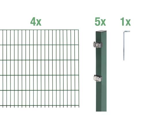 Doppelstabmatten-Set 6/5/6 800x100 cm grün