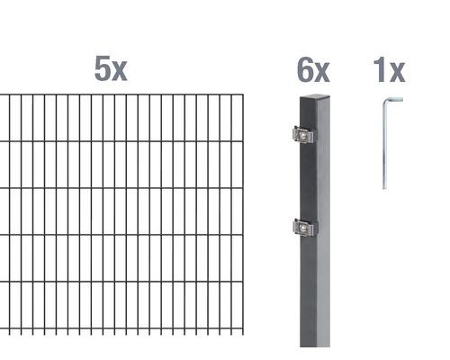 Doppelstabmatten-Set 6/5/6 1000x120 cm antrazit