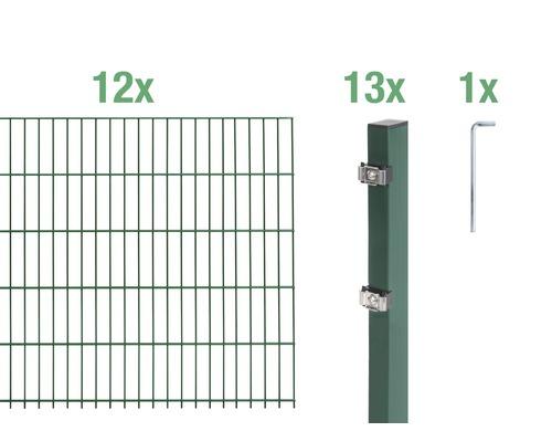Doppelstabmatten-Set 6/5/6 2400x80 cm grün