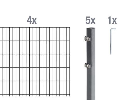 Doppelstabmatten-Set 6/5/6 800x100 cm antrazit