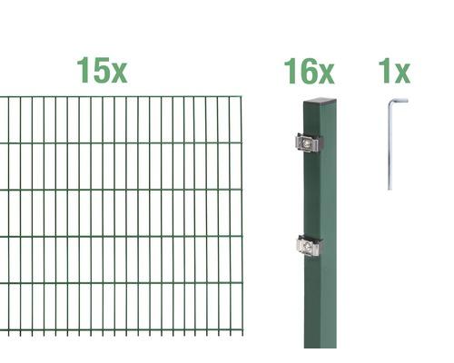Doppelstabmatten-Set 6/5/6 3000x80 cm grün