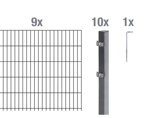 Doppelstabmatten-Set 6/5/6 1800x80 cm antrazit