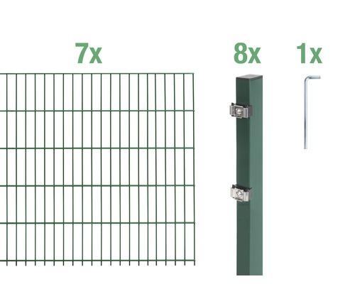 Doppelstabmatten-Set 6/5/6 1400x100 cm grün
