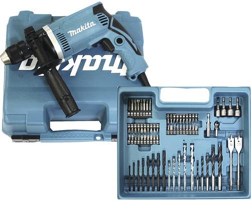 Schlagbohrmaschine Makita HP1631KX3 710W inkl. 74-tlg. Zubehör-Set