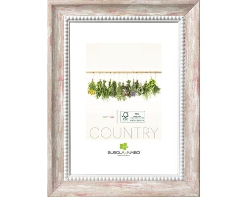 Bilderrahmen Holz Country weiß-rot 13x18 cm