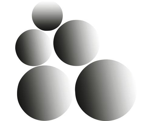 Spiegel-Set Plexiglas rund 5-teilig