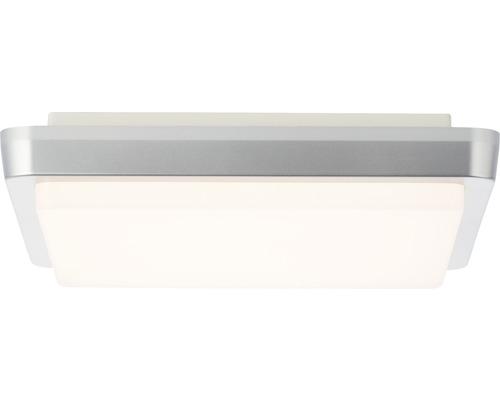 LED Außendeckenleuchte IP54 12W 900 lm 3000 K warmweiß HxBxL 48x280x280 mm Devora silber/weiß Kunststoff
