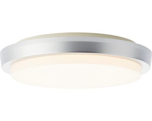 LED Außendeckenleuchte IP54 12W 900 lm 3000 K warmweiß HxØ 48x280 mm Devora silber/weiß Kunststoff