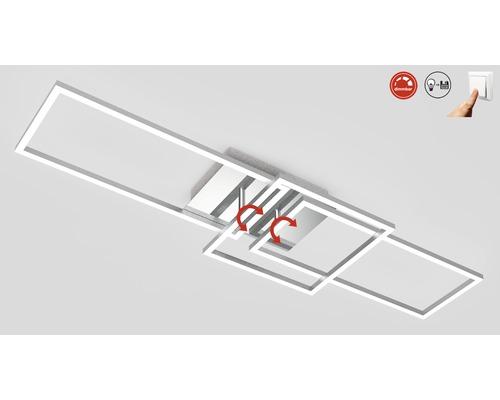LED Deckenleuchte dimmbar 1x43,8W 1x3300 lm 3000 K warmweiß Frames chrom/alu LxBxH 928/260/96 mm