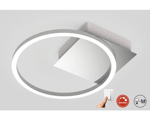 LED Deckenleuchte dimmbar 1x7,5W 1x750 lm 3000 K warmweiß Frames chrom/alu ØxH 260/60 mm