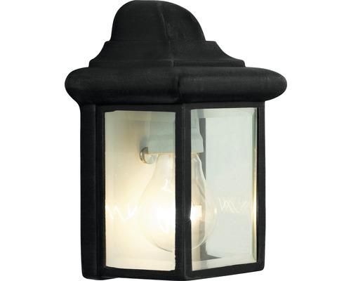 Außenwandleuchte IP23 1-flammig HxB 220x145 mm Nissi flach schwarz Metall