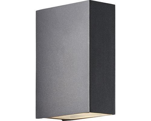 LED Außenwandleuchte IP54 2x3W 2x221 lm 3000 K warmweiß HxTxB 123x90x40 mm Zaria Up/Down anthrazit Alu/Glas