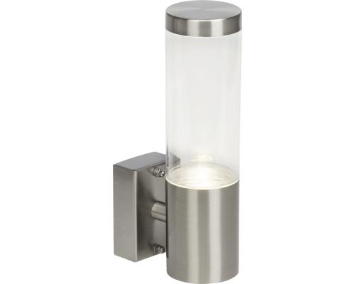 LED Außenwandleuchte IP44 4W 345 lm 4000 K neutralweiß HxØ 220x60 mm Bryn edelstahl/gebürstet Metall