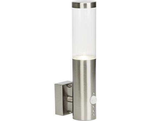 LED Sensor Außenwandleuchte IP44 4W 345 lm 4000 K neutralweiß HxØ 292x60 mm Bryn edelstahl/gebürstet Metall