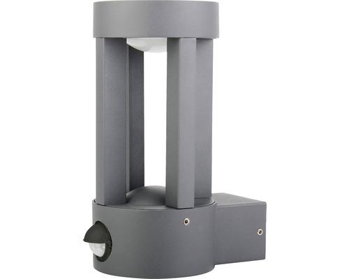 LED Sensor Außenwandleuchte IP44 5W 170 lm 3000 K warmweiß HxBxT 188x90x137 mm Vergil anthrazit Alu
