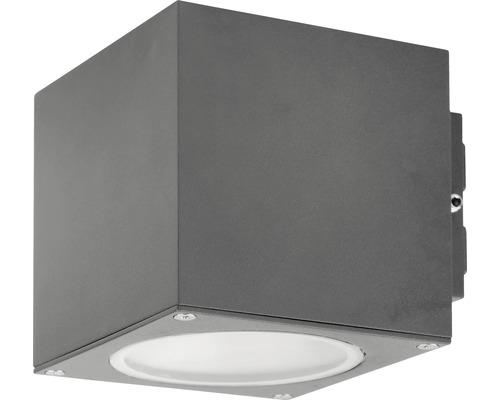LED Außenwandleuchte IP44 3W 255 lm 3000 K warmweiß HxBxT 100x100x125 mm Hagan anthrazit Alu