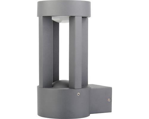 LED Außenwandleuchte IP44 5W 170 lm 3000 K warmweiß HxBxT 188x90x124 mm Vergil anthrazit Alu