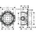 Grundkörper hansgrohe iBox universal 01800180