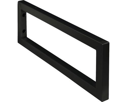Halter für Waschtischauflage schwarz matt 44 cm