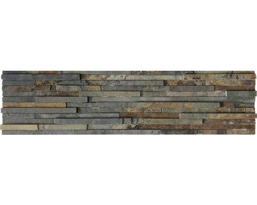 Wandverblender Naturstein Schiefer Multicolor Stripe 15 x 60 cm
