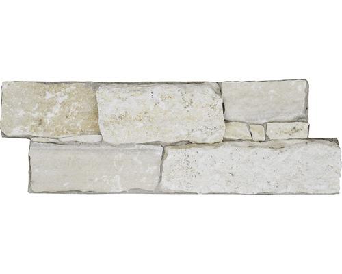 Wandverblender Naturstein Alpenquarzit auf Zement 20 x 60 cm