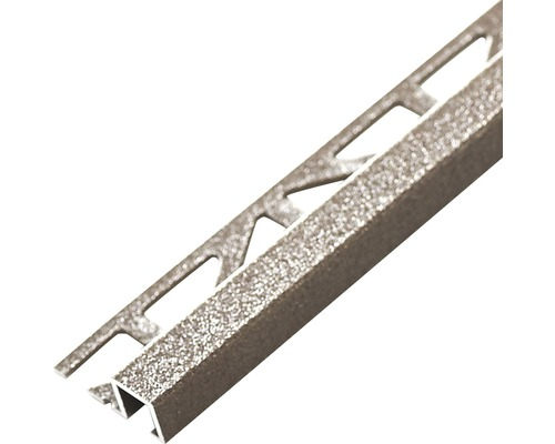 Abschlussprofil Dural Squareline 11 mm Länge 250 cm Aluminium braun