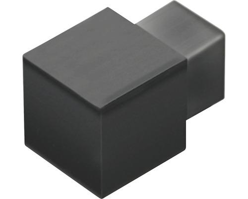 Aussenecke Squareline Aluminium matt schwarz 2 Stück