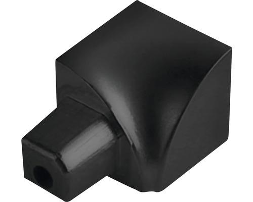 Innenecke Durondell Aluminium matt schwarz YI 2 Stück