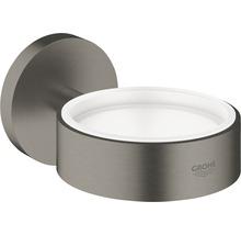 Halter GROHE Essentials für Glas, Seifenschale und Seifenspender hard graphite gebürstet 40369AL1