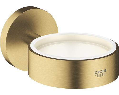 Halter GROHE Essentials für Glas, Seifenschale und Seifenspender cool sunrise gebürstet 40369GN1