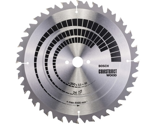 Kreissägeblatt Construct for Wood S Ø 350x30 Z 24