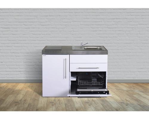 Miniküche stengel Premiumline Breite 120 cm MPGS120 KS Glaskochfeld Becken rechts