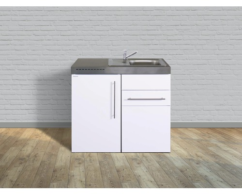 Miniküche stengel Premiumline Breite 100 cm MP100S KS o.Kochfeld Becken rechts