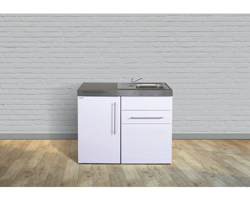 Miniküche stengel Premiumline Breite 110 cm MP110 KS o.Kochfeld Becken rechts