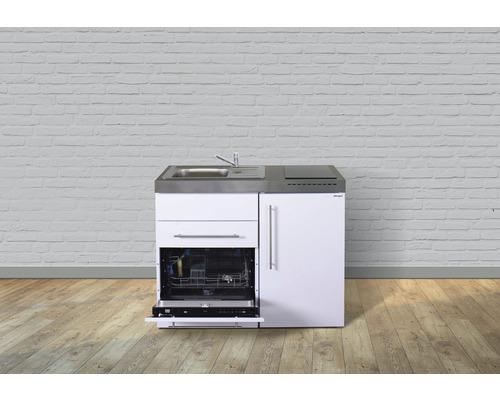 Miniküche stengel Premiumline Breite 110 cm MPGS110 KS Glaskochfeld Becken links