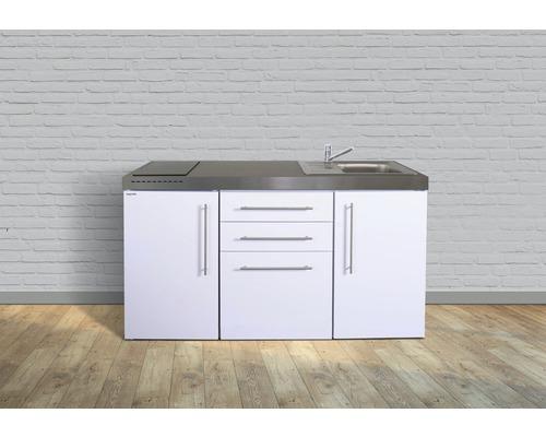 Miniküche stengel Premiumline Breite 160 cm MPGS160 KS Glaskochfeld Becken rechts