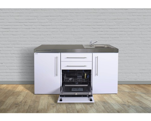Miniküche stengel Premiumline Breite 160 cm MPGS160 KS o.Kochfeld Becken rechts