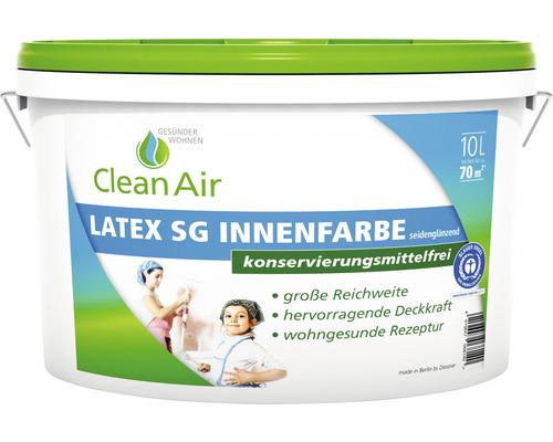 Clean Air GESÜNDER WOHNEN Latex SG Innenfarbe Latexfarbe konservierungsmittelfrei weiß 10 l
