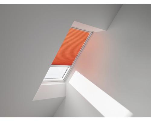 VELUX Plissee-Faltstore uni orange solarbetrieben FSL CK06 1273S