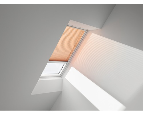 VELUX Plissee-Faltstore uni kupfer solarbetrieben FSL S06 1267S