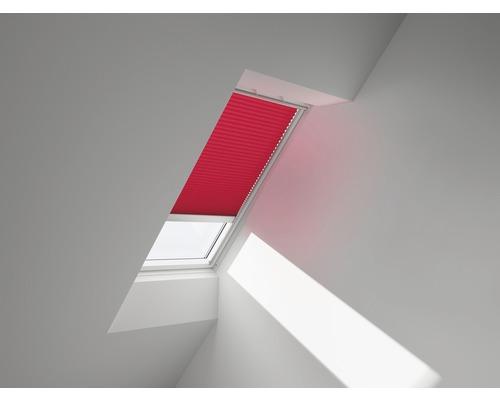 VELUX Plissee-Faltstore uni rot solarbetrieben FSL 102 1269S