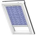 VELUX Sichtschutzrollo blau gepunktet solarbetrieben RSL CK04 4160S