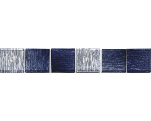 Glasbordüre Glas saphirblau 4,8x29,8 cm