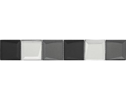 Glasbordüre Glas REFLEX schwarz mix 4,8x29,8 cm